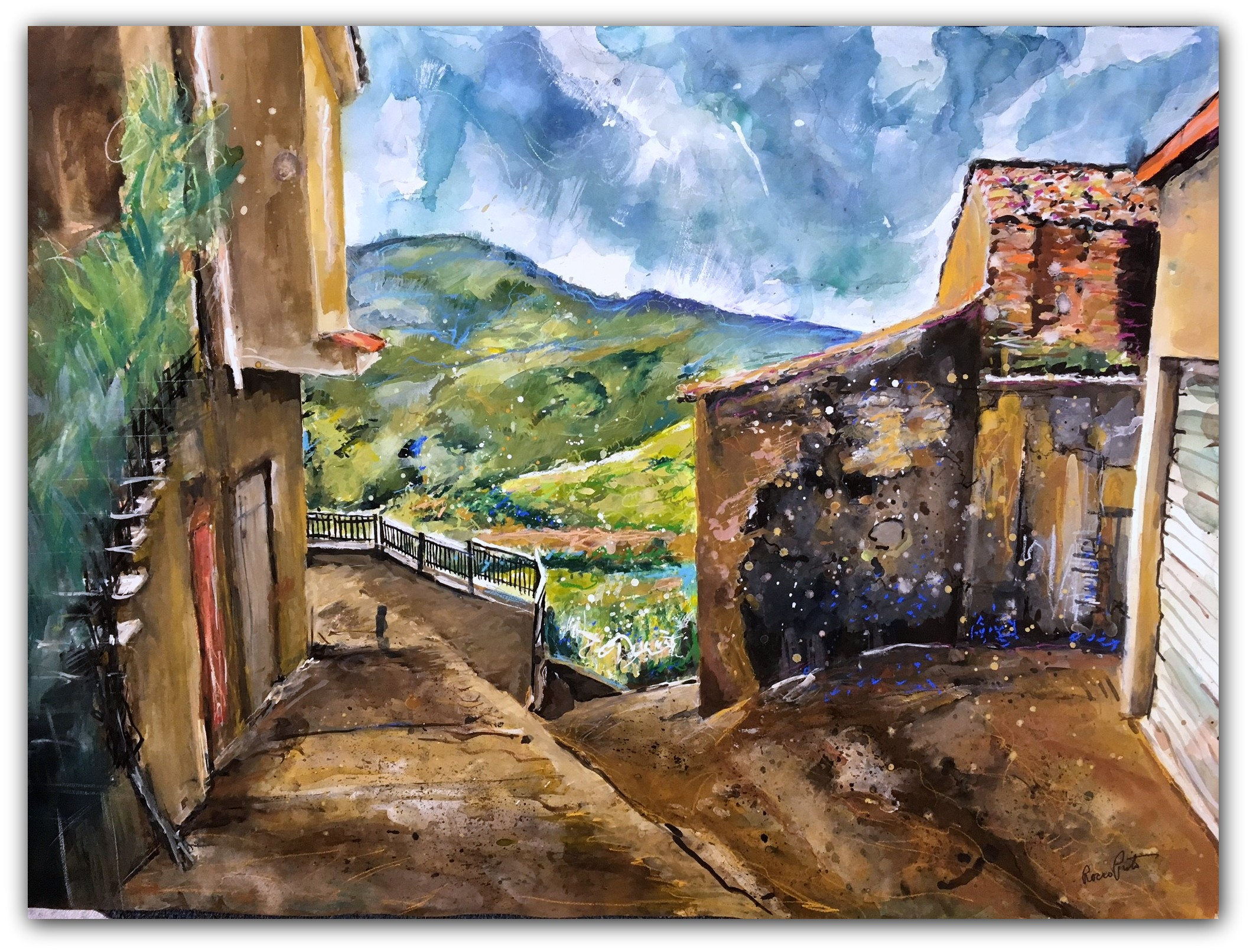 View of the hills of Gioppo